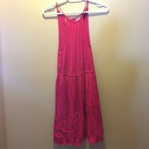 Forever 21 hot pink halter dress